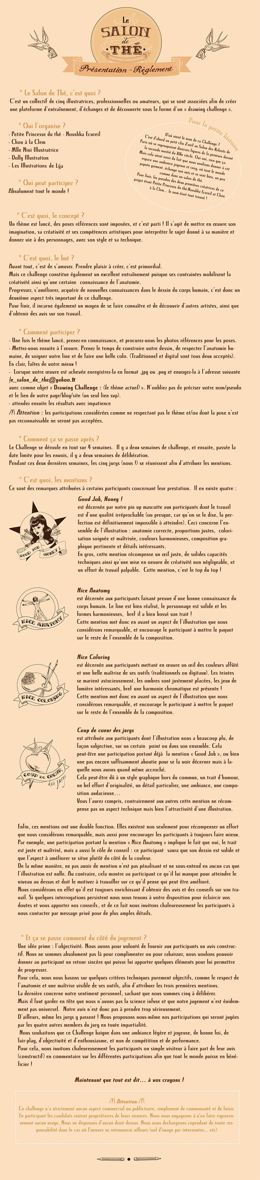 Les règles du Salon de Thé